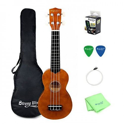 Strong Wind 21 inches Bright brown Basswood Ukulele