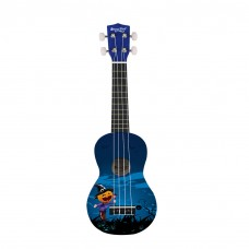 Strong Wind Halloween Blue Soprano Ukulele