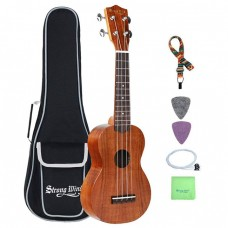 Strong Wind 21 inches KOA Body Soprano Ukulele