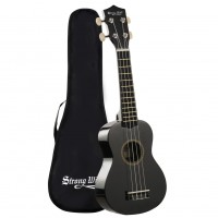 Strong Wind Black Soprano Ukulele For Kids Beginners