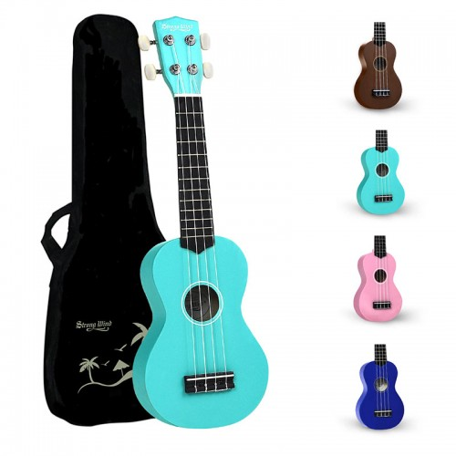 Strong Wind Light Blue Soprano Ukulele For Kids