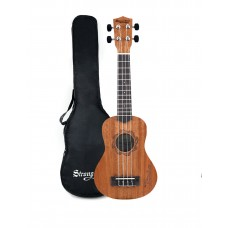 Strong Wind 21 inch Sapele Soprano Ukulele for beginners