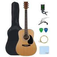 Strong Wind Spruce Acoustic Guitar Bundle 41 inch Full Size Dreadnought Guitar