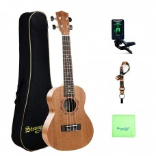 Strong Wind 23 inches Sapele Concert Ukulele for beginners