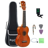 Strong Wind Okoume Tiger Wood Mahogany Soprano Ukulele